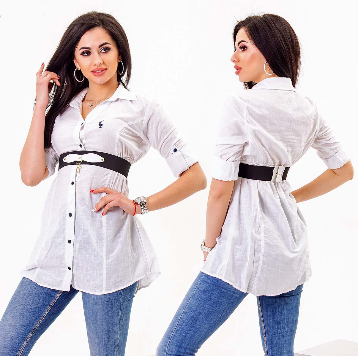 "Женская стильная рубашка-туника 3201 ""POLO"""