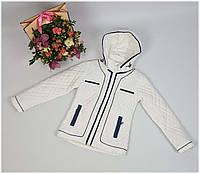 Куртка для девочки  1857 весна-осень, размеры на рост от 116 до 134 возраст от 6 до 11 лет, фото 1