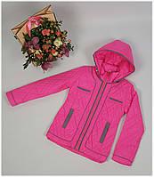 Куртка для девочки  1857 весна-осень, размеры на рост от 116 до 140 возраст от 6 до 11 лет, фото 1