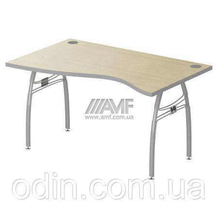 Стол 1,6 М86 АртМобил мет.каркас клен/серый 140189