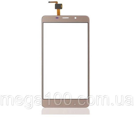 Тачскрин, сенсорныйэкран, золотой цвет, для смартфона LEAGOO M8
