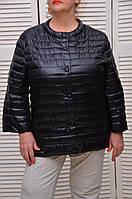 Черная Демисезонная курточка на кнопках с карманами Италия