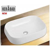 Умывальник накладной на столешницу KERABAD КBW806 (раковина в ванную комнату) 56*42 Прямоугольная форма