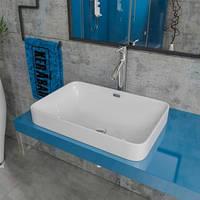 Умывальник накладной на столешницу KERABAD KBW 306 (раковина в ванную комнату) 58*40 Прямоугольная форма