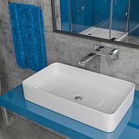 Умывальник накладной на столешницу KERABAD КBW390 (раковина в ванную комнату) 60*34 Прямоугольная форма