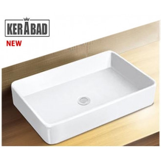 Умывальник накладной на столешницу Kerabad КBW816 (раковина в ванную комнату) 62*41 Прямоугольная форма