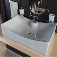 Умывальник накладной на столешницу KERABAD KBW 038 (раковина в ванную комнату) 67*41 Прямоугольная форма