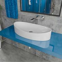 Умывальник накладной на столешницу Kerabad 7756b (раковина в ванную комнату) 65*34 Овальная форма