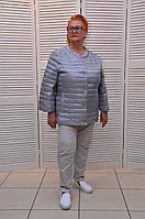 Демисезонная курточка СЕРЕБРО на кнопках с карманами Италия