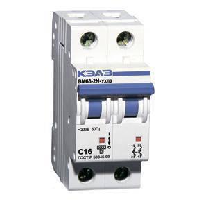 Автоматический выключатель Курск 2X63А