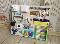 Бизиборд развивающая игра для самых маленьких busy board 35*40 см, фото 4