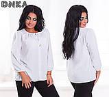 Женская легкая штапельная блузка от50 до 56р (4 расцв.), фото 3