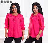 Женская легкая штапельная блузка от50 до 56р (4 расцв.), фото 2