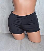 Плавки-шорты пляжные молодежные однотонные черные 36-44  -ассортимент и цвета