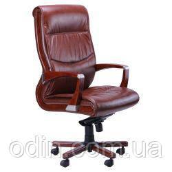 Кресло Монтана НВ, кожа коричневая (619-B+PVC) 038669