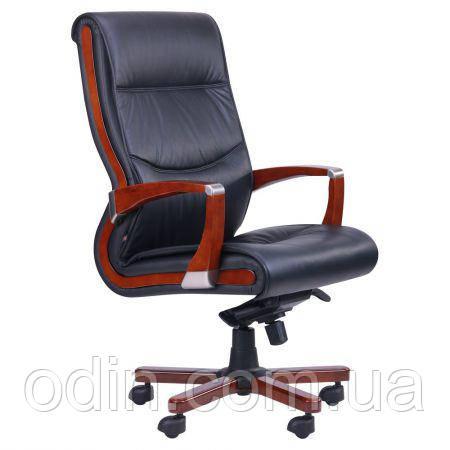 Кресло Монтана НВ, кожа черная (619-B+PVC) 038670