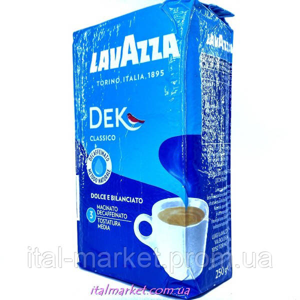 Кофе Лавацца декафенато (без кофеина) Lavazza Dek 250г