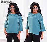 Красивая женская блузка свободного кроя (3расцв.)БАТАЛ, фото 3