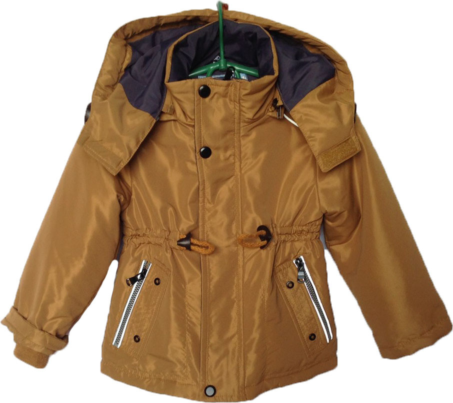 """Куртка детская демисезонная """"Tofeina"""" #608 для мальчиков. 1-2-3-4-5 лет. Коричневая. Оптом."""