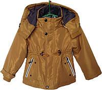 """Куртка детская демисезонная """"Tofeina"""" #608 для мальчиков. 1-2-3-4-5 лет. Коричневая. Оптом., фото 1"""