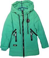 """Куртка подростковая демисезонная """"New Vogue"""" #ВМ-807 для девочек. 7-8-9-10-11 лет. Мята. Оптом., фото 1"""