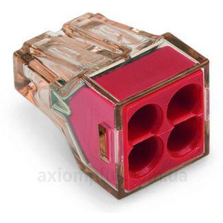 Клемма WAGO на 4 провода 4mm2, 773-604 красная