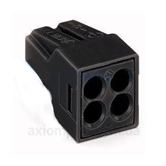 Клемма для распределительных коробок, на 4 проводника, 773-514 черная, WAGO