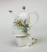 Фарфоровый ночник (светильник) Чайник Pavone JP-18/ 2, фото 1