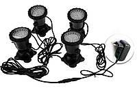 Светильник подводный для басcейна комплект  4шт x 2W 12V LED Белый  размер 70мм*95мм IP68