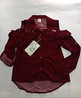 Рубашка модная для девочек от 6-7 до 12-13 лет., фото 1