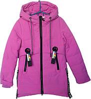 """Куртка детская демисезонная """"Sports"""" #1749 для девочек. 7-8-9-10-11 лет. Сиреневая. Оптом., фото 1"""