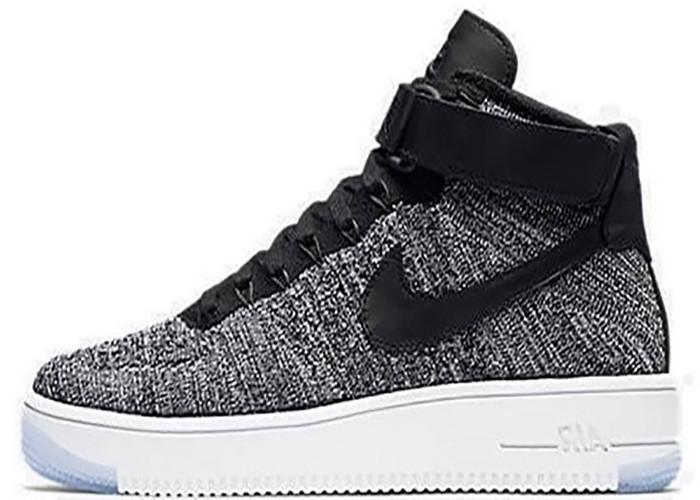 ef023943 мужские кроссовки Nike Air Force 1 Ultra Flyknit Oreo Grey лучшая