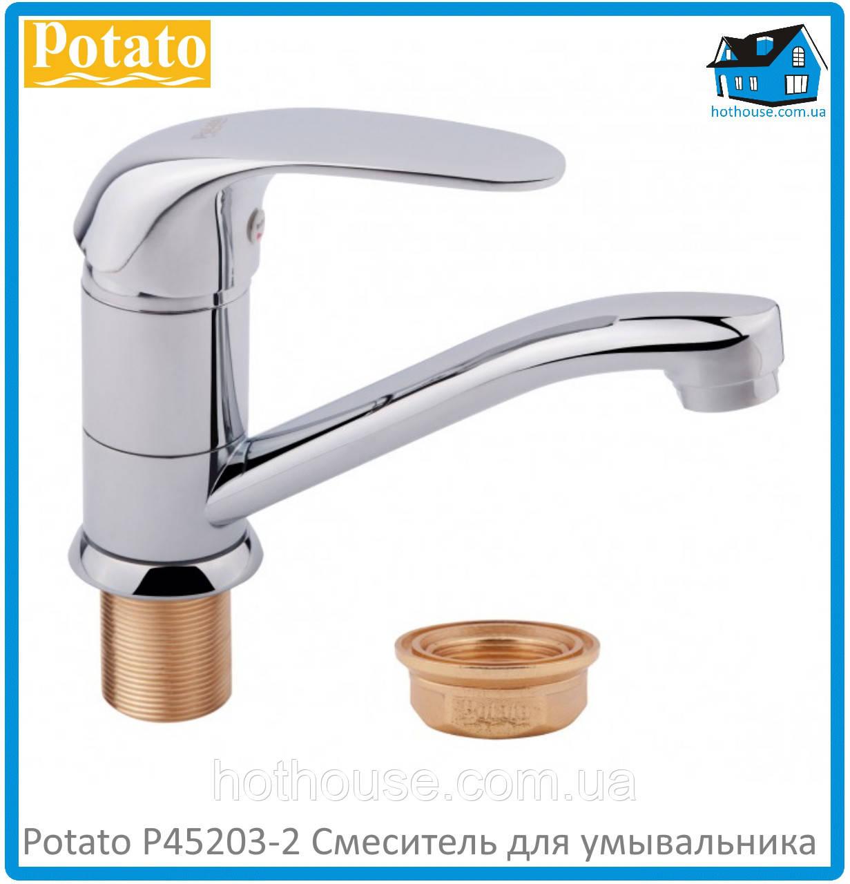 Смеситель для умывальника Potato P45203-2