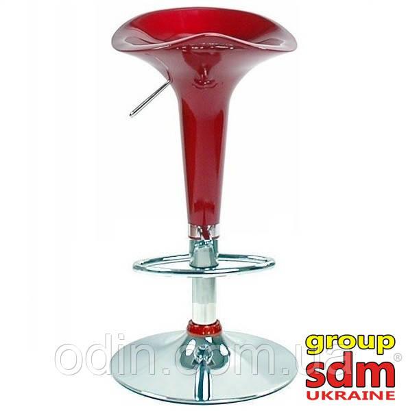 Стул барный Эприл, высокий, пластиковый, хром, цвет красный SDMВ02Red