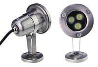 Светильник подводный  LED 3х2W  Белый  12V размер 82мм*140мм IP68