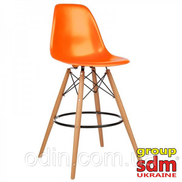 Стул барный Тауэр Вуд, пластиковый, высокий, цвет оранжевый 001010HOrange