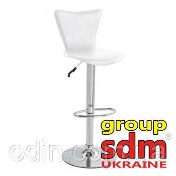 Стул барный Сара, регулируемый, сиденье кожзам, цвет белый SDM0083121BL