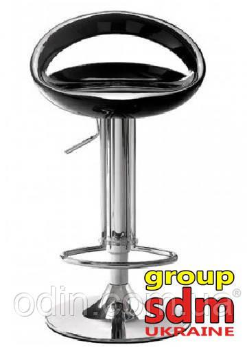 Стул барный Торре, хромированный, сиденье пластиковое, цвет черный SDM0080081NE