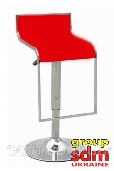 Стул барный Ж8, высокий, кожзам, цвет красный SDMA00200RED