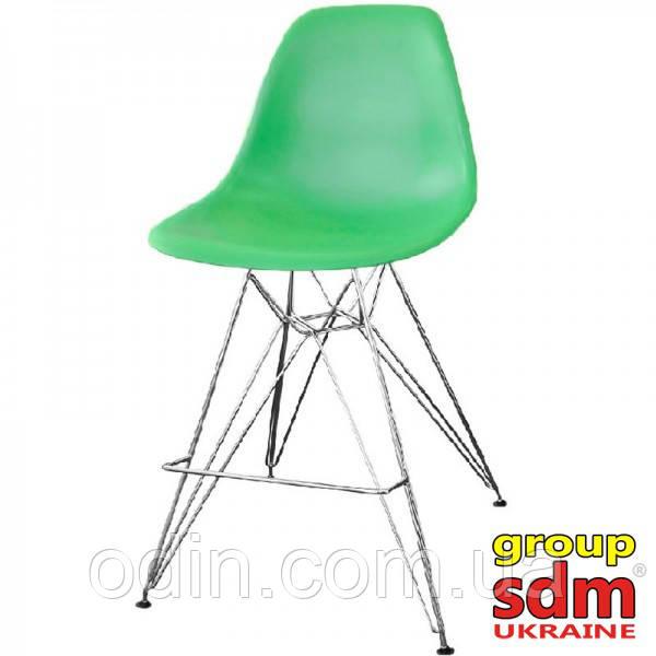 Стул барный Тауэр, ножки хромированные, сиденье пластиковое зеленого цвета towHgreen