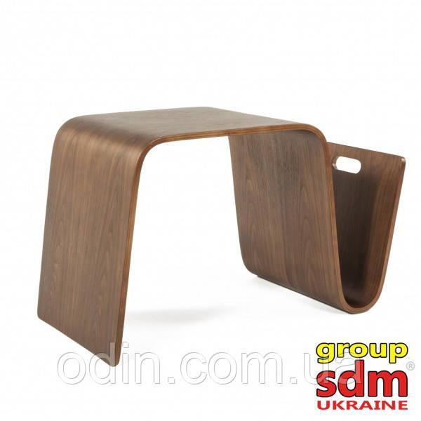 Стол журнальный Нерея, деревянный, гнутая фанера, цвет натуральных орех T-Nerea