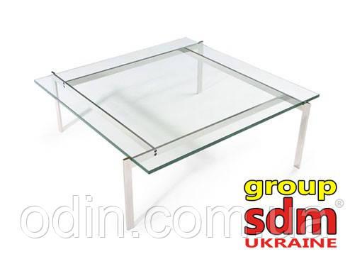 Стол журнальный Эвора, стеклянный, нержавеющая сталь SDMT419GL