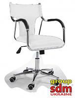 Кресло Берлин, компьютерное, механизм качания, хромированное, цвет белый 0001kzWH