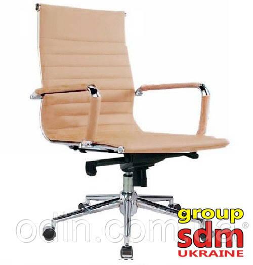 Кресло офисное Алабама M, кожзам, средняя спинка, цвет бежевый SDMМD0004BE