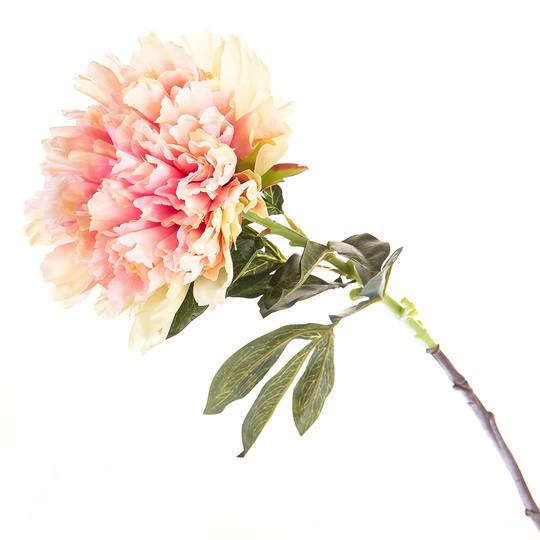 Искусственный розовый пион (100 см.)