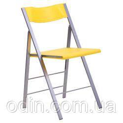 Стул Ибица алюм пластик желтый 050045