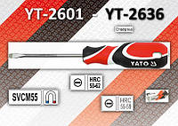 Отвертка шлицевая 5,0 x 300мм., YATO YT-2635