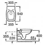 Унітаз Roca Debba Rectangular A34H99L000+кришка Soft Close, фото 4