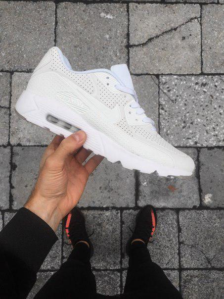f93546cf Мужские кроссовки Nike Air Max 90 Ultra Moire White найк эир белые ...