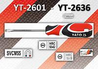 Отвертка шлицевая 5,0 x 400мм., YATO YT-2636